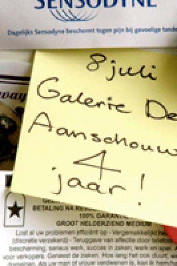 Galerie De Aanschouw is jarig!